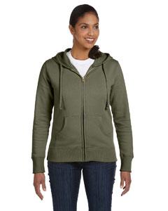 Jungle Ladies' 9 oz. Organic/Recycled Full-Zip Hood