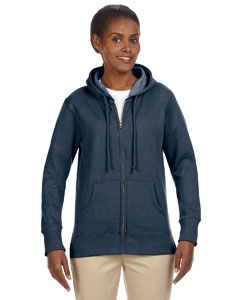 Water Ladies' 7 oz. Organic/Recycled Heathered Fleece Full-Zip Hood