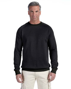 Charcoal 7 oz. Organic/Recycled Heathered Fleece Raglan Crew