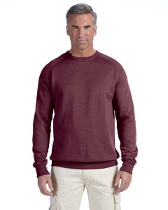 Berry 7 oz. Organic/Recycled Heathered Fleece Raglan Crew