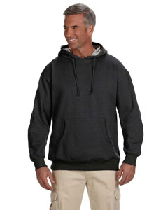 Charcoal 7 oz. Organic/Recycled Heathered Fleece Pullover Hood