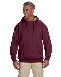 Berry 7 oz. Organic/Recycled Heathered Fleece Pullover Hood