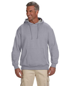 Athletic Grey 7 oz. Organic/Recycled Heathered Fleece Pullover Hood