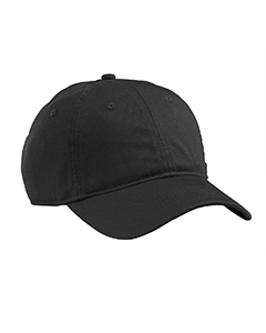 Black Organic Cotton Twill Unstructured Baseball Hat