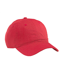 Red Organic Cotton Twill Unstructured Baseball Hat