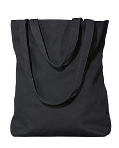 Black Organic Cotton Twill Every Day Tote