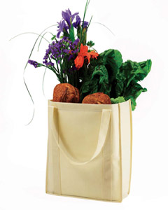 Natural Non-Woven Grocery Tote