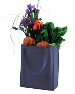 Navy Non-Woven Grocery Tote
