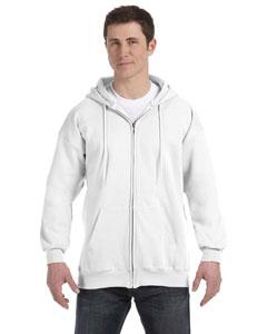 White 9.7 oz. Ultimate Cotton® 90/10 Full-Zip Hood