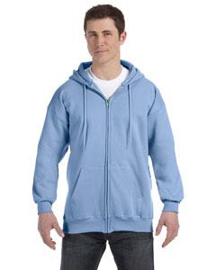 Light Blue 9.7 oz. Ultimate Cotton® 90/10 Full-Zip Hood