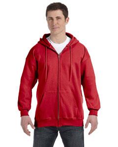 Deep Red 9.7 oz. Ultimate Cotton® 90/10 Full-Zip Hood