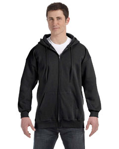 Black 9.7 oz. Ultimate Cotton® 90/10 Full-Zip Hood