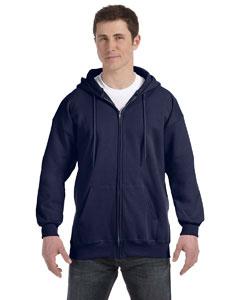 Navy 9.7 oz. Ultimate Cotton® 90/10 Full-Zip Hood