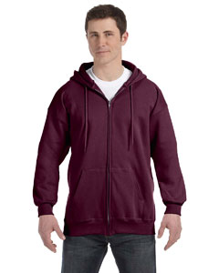Maroon 9.7 oz. Ultimate Cotton® 90/10 Full-Zip Hood