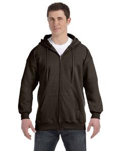 Dark Chocolate 9.7 oz. Ultimate Cotton® 90/10 Full-Zip Hood
