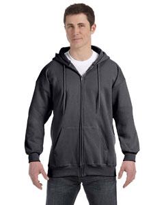 Charcoal Heather 9.7 oz. Ultimate Cotton® 90/10 Full-Zip Hood