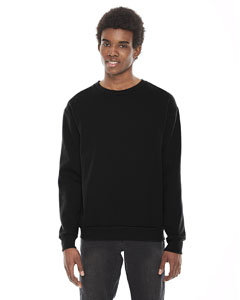 Black Unisex Flex Fleece Drop Shoulder Pullover Crewneck