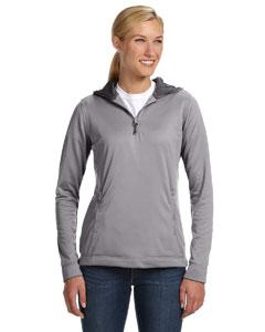Steel Women's Tech Fleece Quarter-Zip Pullover Hood