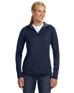 Navy Women's Tech Fleece Quarter-Zip Pullover Hood
