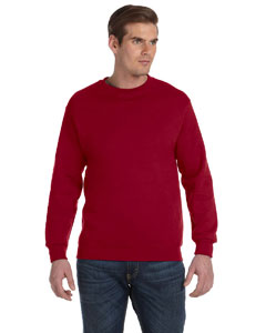 Cardinal Red DryBlend™ 9.3 oz., 50/50 Fleece Crew