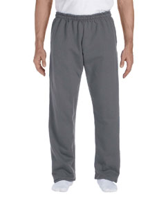 Charcoal DryBlend™ 9.3 oz., 50/50 Open-Bottom Sweatpants