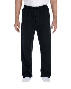 Black DryBlend™ 9.3 oz., 50/50 Open-Bottom Sweatpants