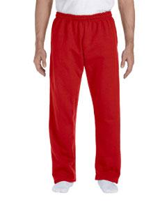 Red DryBlend™ 9.3 oz., 50/50 Open-Bottom Sweatpants