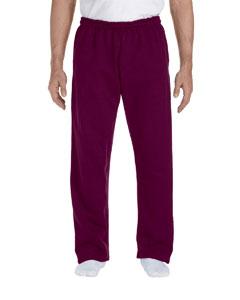 Maroon DryBlend™ 9.3 oz., 50/50 Open-Bottom Sweatpants