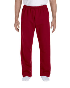 Cardinal Red DryBlend™ 9.3 oz., 50/50 Open-Bottom Sweatpants