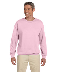 Light Pink Heavy Blend™ 8 oz., 50/50 Fleece Crew