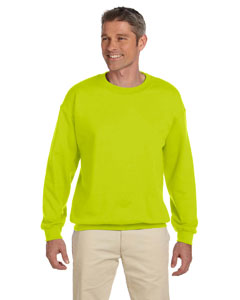 Safety Green Heavy Blend™ 8 oz., 50/50 Fleece Crew