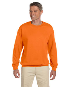 Safety Orange Heavy Blend™ 8 oz., 50/50 Fleece Crew