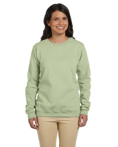 Serene Green Women's 8 oz. Heavy Blend™ 50/50 Fleece Crew