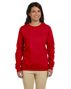 Cherry Red Women's 8 oz. Heavy Blend™ 50/50 Fleece Crew