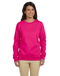 Heliconia Women's 8 oz. Heavy Blend™ 50/50 Fleece Crew