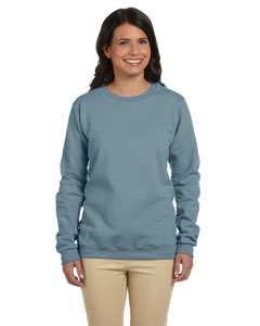 Stone Blue Women's 8 oz. Heavy Blend™ 50/50 Fleece Crew