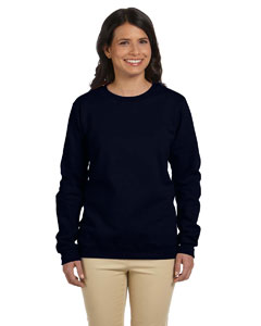 Black Women's 8 oz. Heavy Blend™ 50/50 Fleece Crew