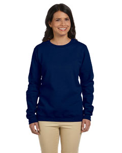 Navy Women's 8 oz. Heavy Blend™ 50/50 Fleece Crew