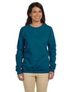 Galapogos Blue Women's 8 oz. Heavy Blend™ 50/50 Fleece Crew