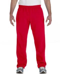 Red Heavy Blend™ 8 oz., 50/50 Open-Bottom Sweatpants