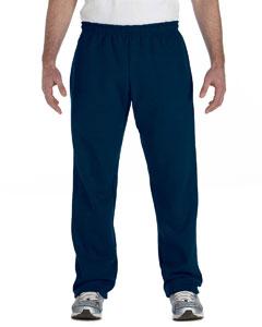 Navy Heavy Blend™ 8 oz., 50/50 Open-Bottom Sweatpants