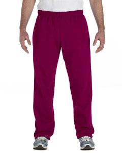 Maroon Heavy Blend™ 8 oz., 50/50 Open-Bottom Sweatpants
