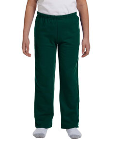 Forest Green Heavy Blend™ Youth 8 oz., 50/50 Open-Bottom Sweatpants