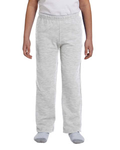 Ash Grey Heavy Blend™ Youth 8 oz., 50/50 Open-Bottom Sweatpants
