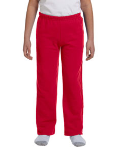 Red Heavy Blend™ Youth 8 oz., 50/50 Open-Bottom Sweatpants