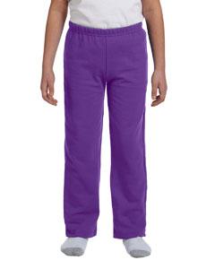 Purple Heavy Blend™ Youth 8 oz., 50/50 Open-Bottom Sweatpants