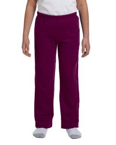 Maroon Heavy Blend™ Youth 8 oz., 50/50 Open-Bottom Sweatpants