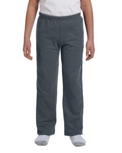 Dark Heather Heavy Blend™ Youth 8 oz., 50/50 Open-Bottom Sweatpants