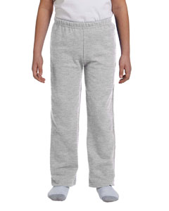 Sport Grey Heavy Blend™ Youth 8 oz., 50/50 Open-Bottom Sweatpants