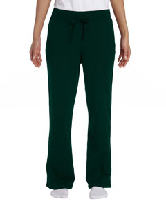 Forest Green Women's 8 oz. Heavy Blend™ 50/50 Open-Bottom Sweatpants